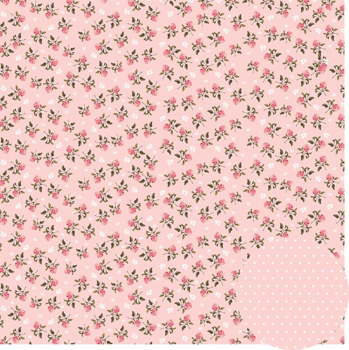 Papel Floral Chique Rosa Mini